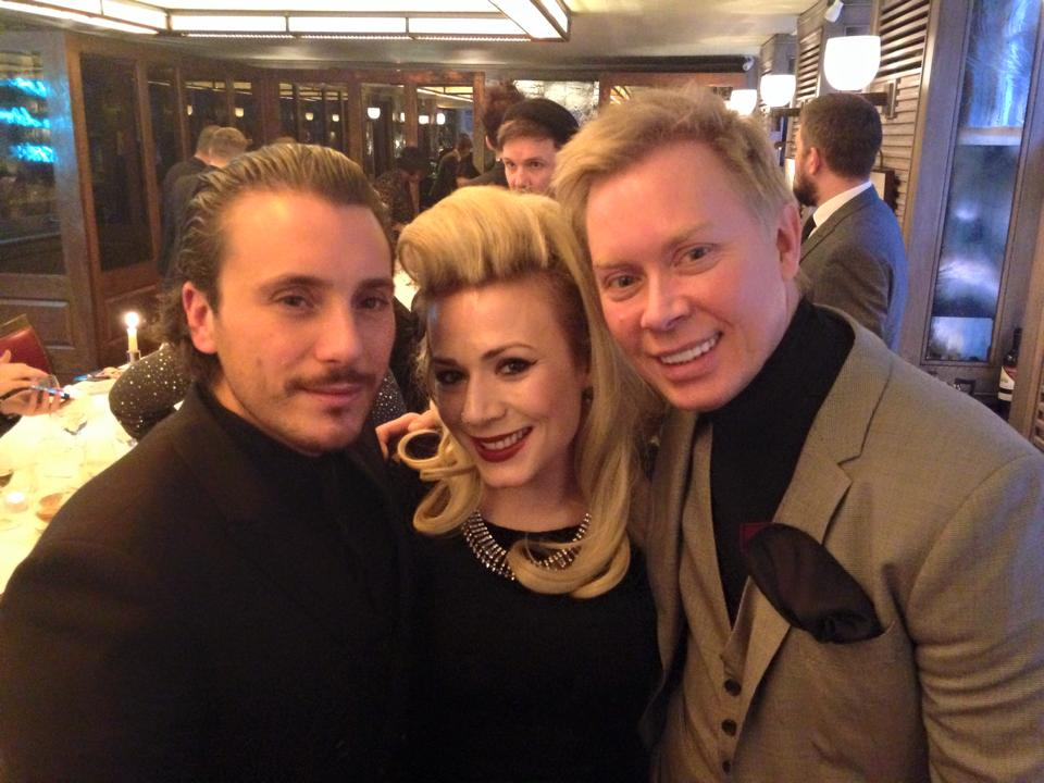 BRITISH HAIRDRESSING AWARDS WINNERS LUNCH FOR NICK AND SOPHIE