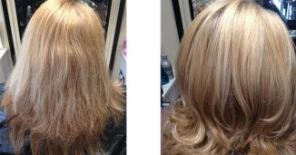 before and after Olaplex at Royston Blythe