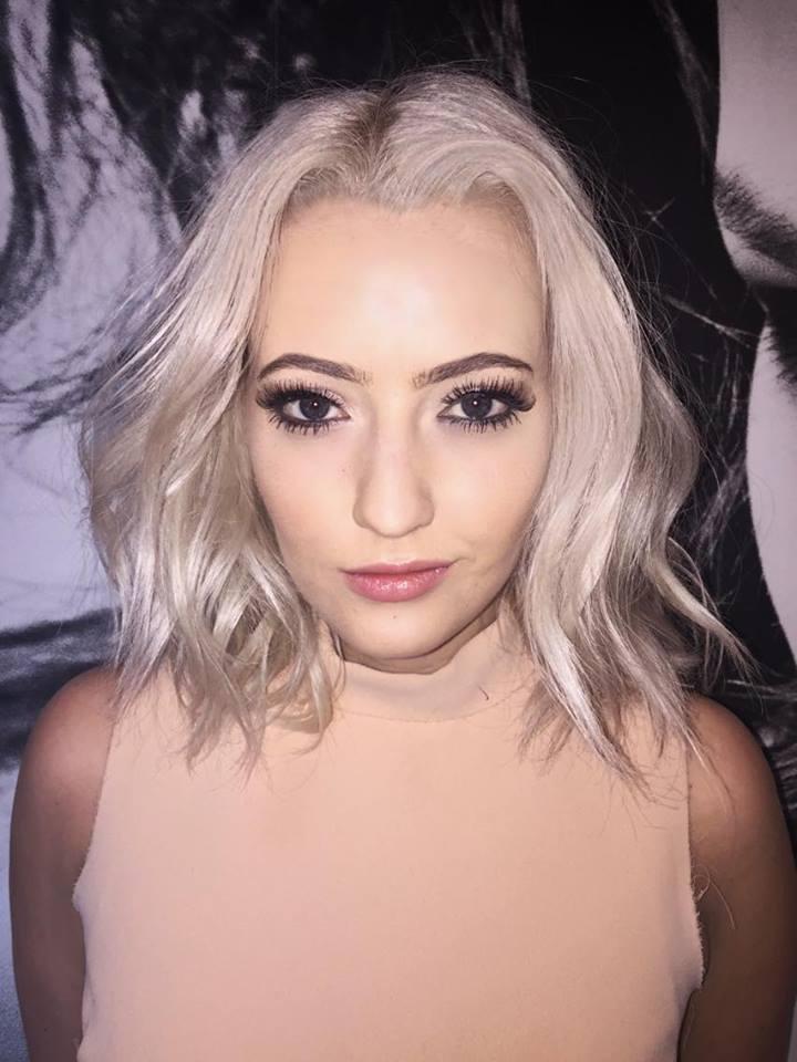 Platinum Blonde Lob at Royston Blythe Hairdressers