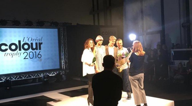 Royston Blythe Winners of L'oreal Colour Trophy