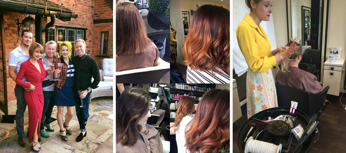 Sophia Hilton Queen of Colour visits Royston Blythe Hairdressing