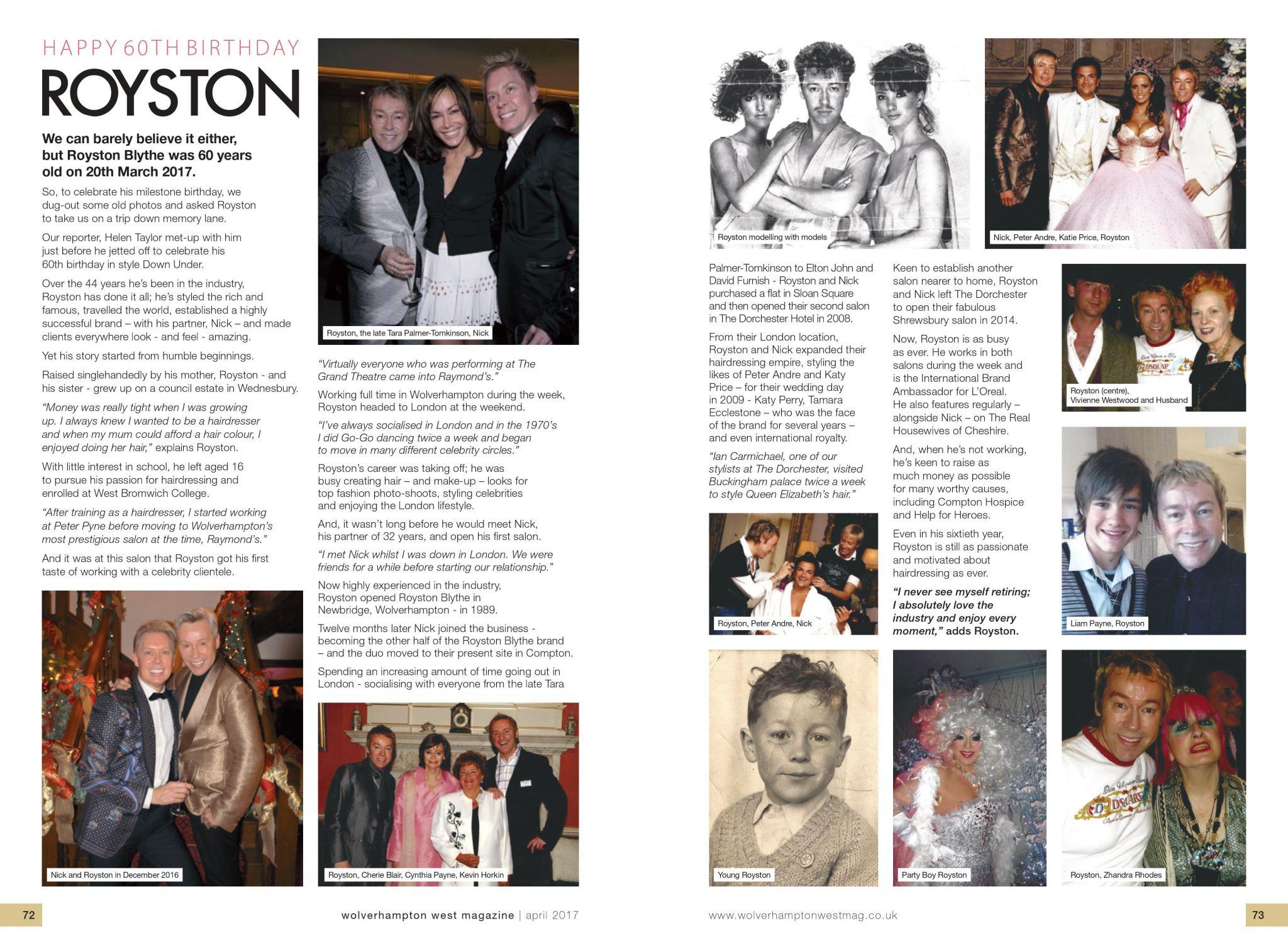 Royston Celebrates 60 Wonderful Years!