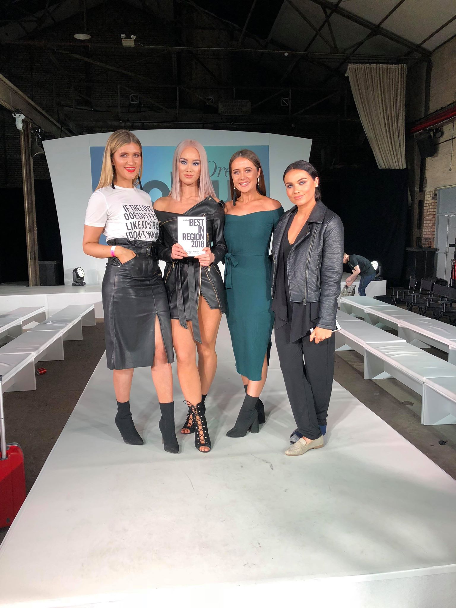 Royston Blythe Wolverhampton Celebrate A Victory At Regional L'oreal Colour Trophy
