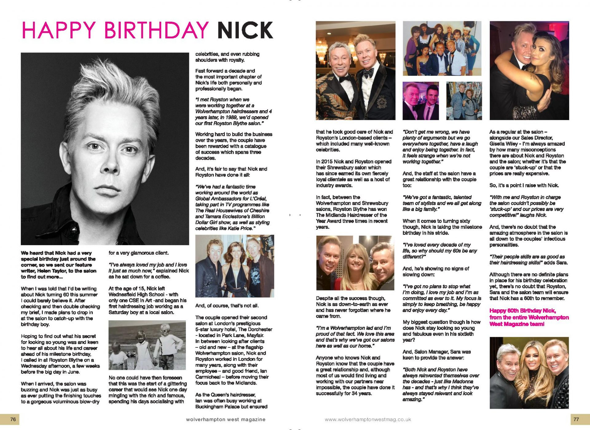Special Birthday Celebrations For Nick