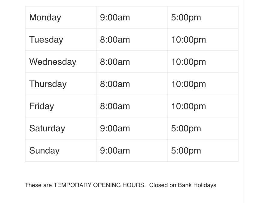royston blythe opening hours