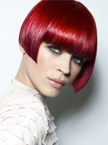 short red iconic bob by Royston Blythe