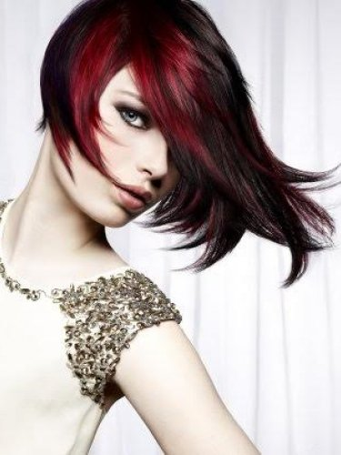 red ombre long bob by royston blythe