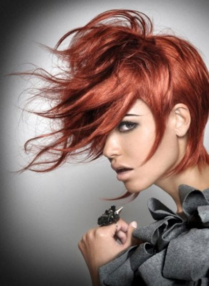 short copper red hairstyles at Royston Blythe Wolverhampton